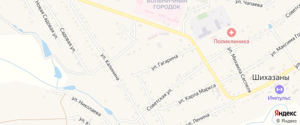 Светлая улица на карте села Шихазаны с номерами домов