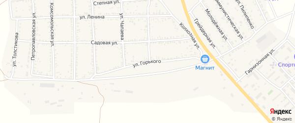 Улица Горького на карте села Тамбовки с номерами домов