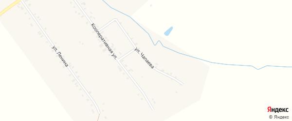 Улица Чапаева на карте деревни Шаймурзино с номерами домов