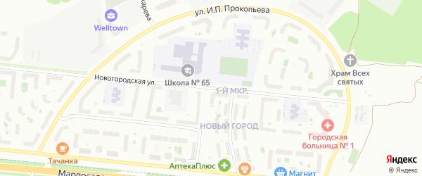 Новогородская улица на карте Чебоксар с номерами домов