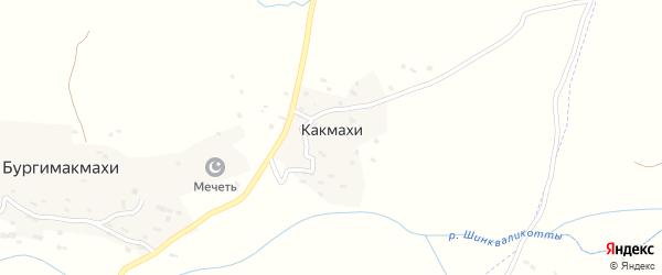 Улица Как на карте хутора Какмахи с номерами домов