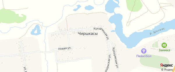 Сосновая улица на карте деревни Чиршкасы (Сирмапосинского с/п) с номерами домов
