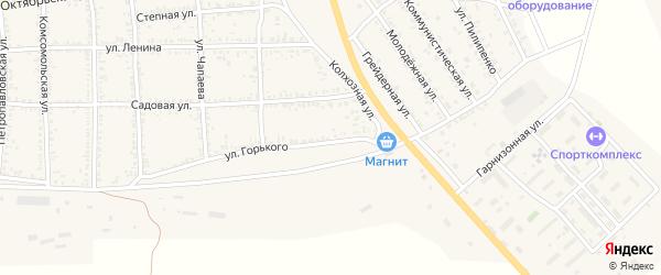 Территория Новый микрорайон на карте села Тамбовки с номерами домов