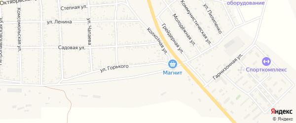 Партизанская улица на карте села Тамбовки с номерами домов
