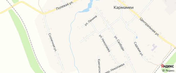 Улица Матросова на карте деревни Кармамеи с номерами домов