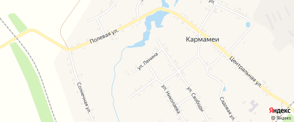 Улица Ленина на карте деревни Кармамеи с номерами домов