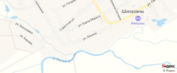 Улица Ленина на карте села Шихазаны с номерами домов