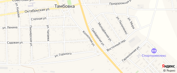 Колхозная улица на карте села Тамбовки с номерами домов