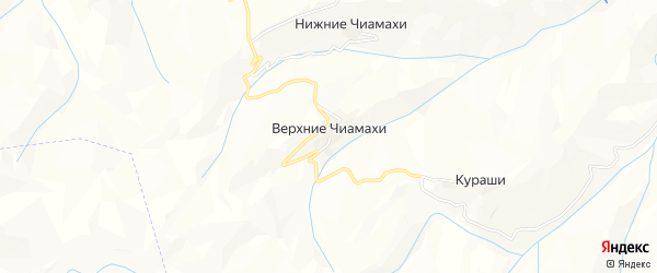 Карта хутора Верхнего Чиамахи в Дагестане с улицами и номерами домов