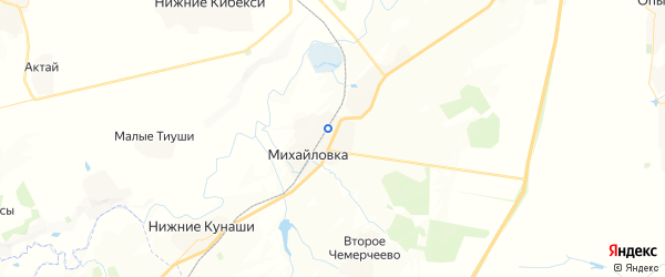 Карта Михайловского сельского поселения республики Чувашия с районами, улицами и номерами домов