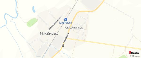 СТ Михайловка на карте Михайловского сельского поселения с номерами домов