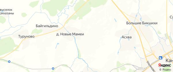 Карта Чагасьского сельского поселения республики Чувашия с районами, улицами и номерами домов