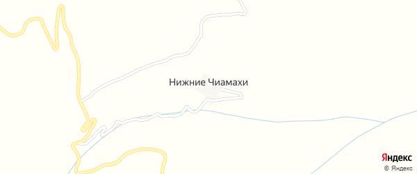 Улица Им Ахмедова на карте хутора Нижнего Чиамахи с номерами домов
