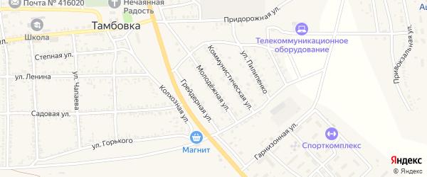 Молодежная улица на карте села Тамбовки с номерами домов