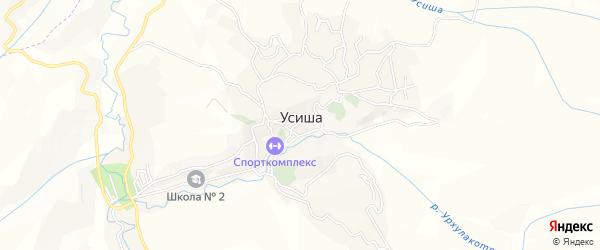 Карта села Усиши в Дагестане с улицами и номерами домов