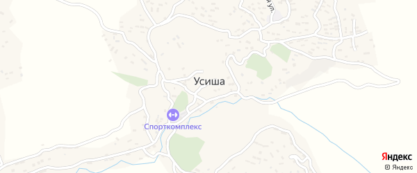 Улица Тиин на карте села Усиши с номерами домов