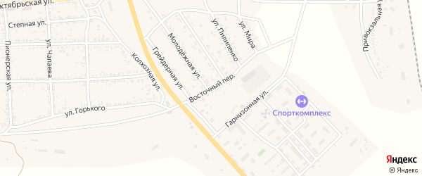 Восточный переулок на карте села Тамбовки с номерами домов