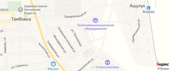 Улица Мира на карте села Тамбовки с номерами домов