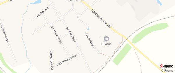 Садовая улица на карте деревни Кармамеи с номерами домов