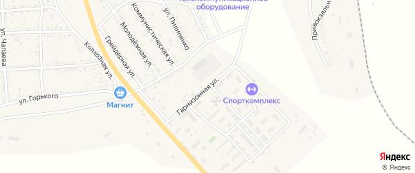 Гарнизонная улица на карте села Тамбовки с номерами домов