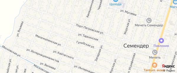 Таркинская улица на карте поселка Семендера с номерами домов