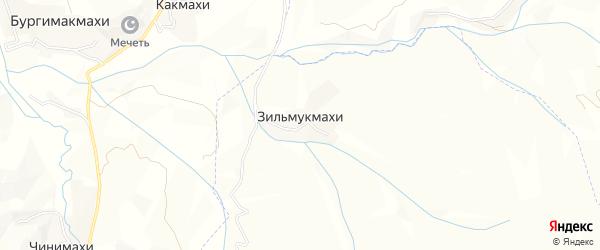Карта хутора Зильмукмахи в Дагестане с улицами и номерами домов