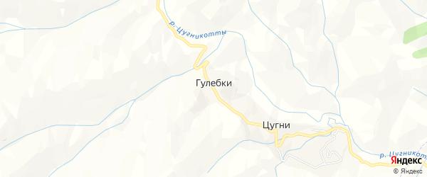 Карта хутора Гулебки в Дагестане с улицами и номерами домов