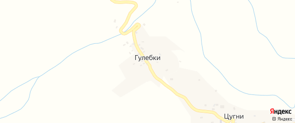 Квартал Хьана на карте хутора Гулебки с номерами домов