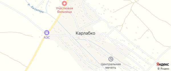 Нагорная улица на карте села Карлабко с номерами домов
