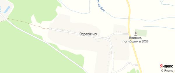 Кубнинская улица на карте села Корезино с номерами домов
