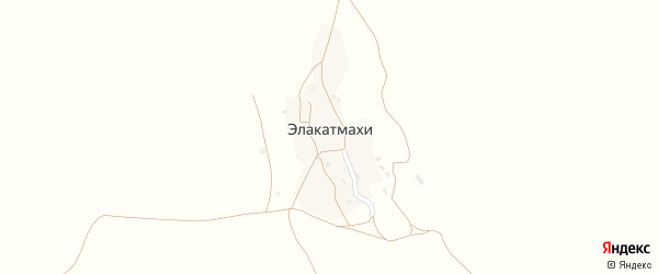 Улица Амирова.С.Д на карте села Элакатмахи с номерами домов