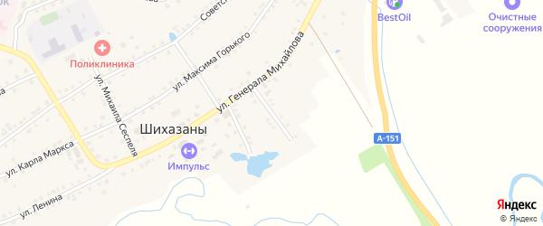 Красноармейская улица на карте села Шихазаны с номерами домов