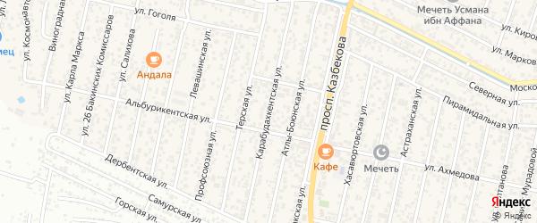 Карабудахкентская улица на карте поселка Семендера с номерами домов