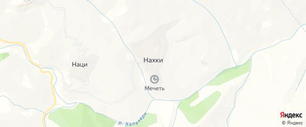 Карта села Нахки в Дагестане с улицами и номерами домов