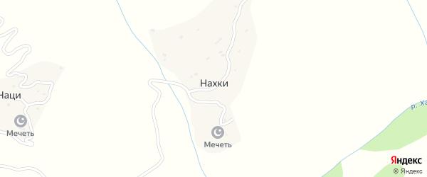 Местность Хьарша на карте села Нахки с номерами домов