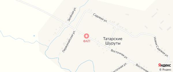 Центральная улица на карте деревни Татарские Шуруты с номерами домов