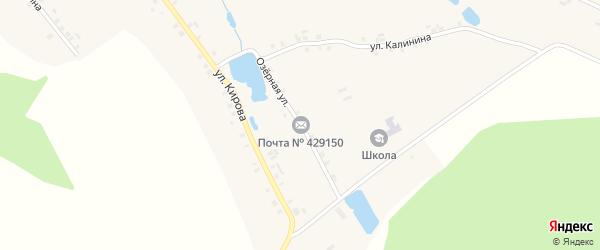 Озерная улица на карте деревни Асаново с номерами домов