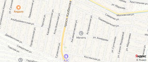 Хасавюртовская улица на карте поселка Семендера с номерами домов