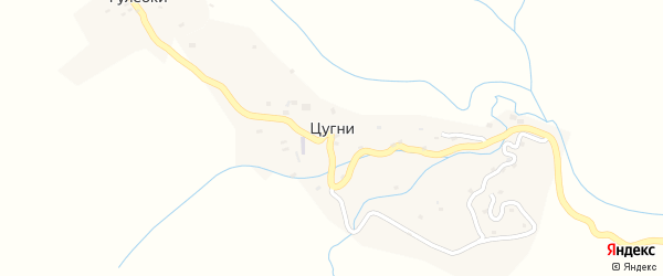 Квартал Пяцянкалла катта на карте села Цугни с номерами домов