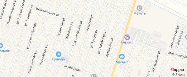 Улица Кумукова на карте поселка Семендера с номерами домов