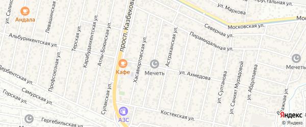 Улица Керимова на карте поселка Семендера с номерами домов