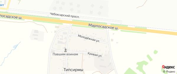 Молодежная улица на карте деревни Типсирмы с номерами домов