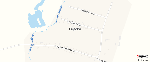 Новая улица на карте деревни Ендобы с номерами домов