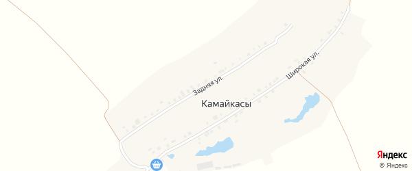 Задняя улица на карте деревни Камайкас с номерами домов