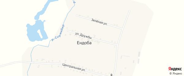 Улица Дружбы на карте деревни Ендобы с номерами домов