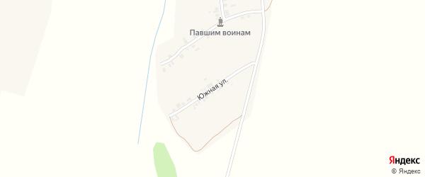 Солнечная улица на карте деревни Эзеккас с номерами домов