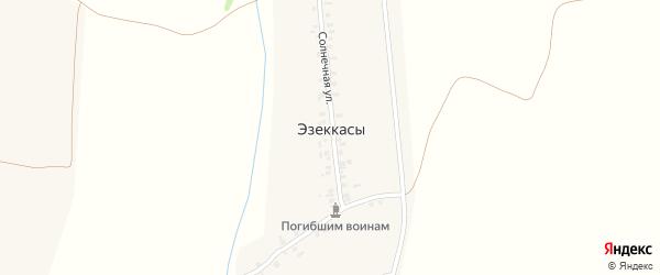 Южная улица на карте деревни Эзеккас с номерами домов
