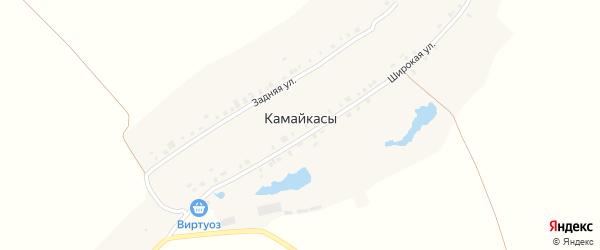 Широкая улица на карте деревни Камайкас с номерами домов