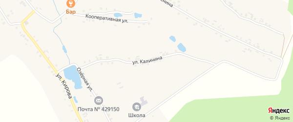 Улица Калинина на карте деревни Асаново с номерами домов
