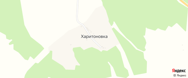 Переулок Выселки на карте деревни Харитоновка с номерами домов